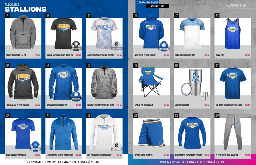 fan cloth options page two