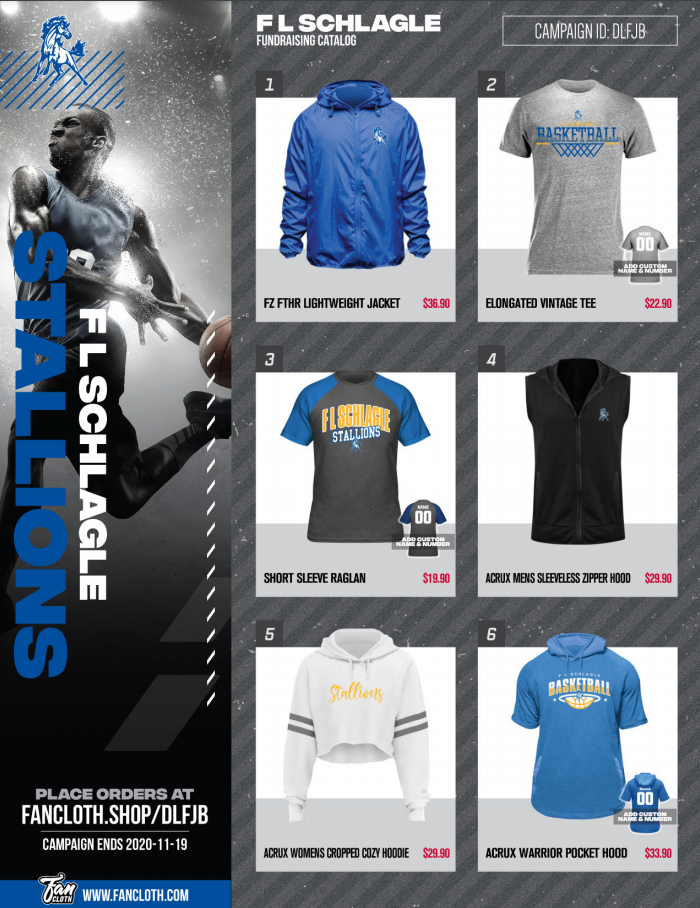 fan cloth options page one